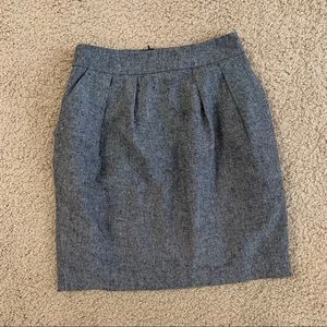 Francesca's Grey Tweed Skirt